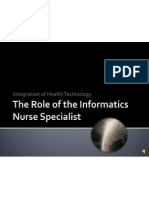 the role of the informatics nurse specialist