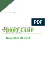 2011 Social Enterprise Boot Camp Presentation at Columbia University by Ryan Allis