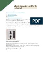 Laboratorio de Caracterización de Materiales