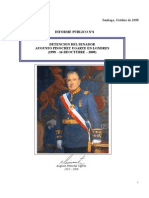 Informe Publico nº4 Detención Londres Senador Pinochet