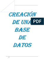 Creacion de Una Base de Datos