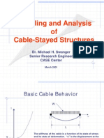 Modelling and Analysis of Cable Stayed Structures