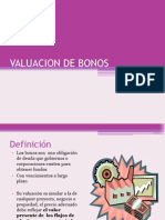 VALUACION DE BONOS