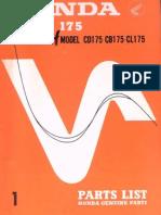 CD CB CL175PartsManual