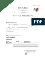 Medical Certificate 2010 Palaro