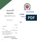 Maglev Trains!!!