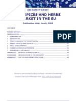 The Spices and Herbs Market in the Eu 2009
