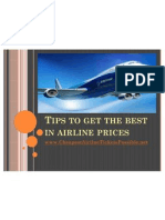 Tips to get the best in airline prices