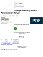 Department of Health - Finalization of the Hospital Nursing Service Administration Manual - 2011-07-13