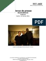 Revue de presse de Majid Bekkas (BEE003)
