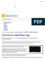 b5e2f7151 Top Four Pro Audio iPhone Apps