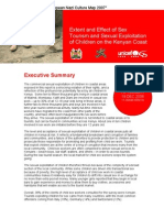Executive Summary - The Extent and Effect of Sex Tourism and Sexual Exploitation of Children on the Kenyan Coast 2007