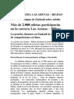 Nota Prensa Las Arenas-Bilbao
