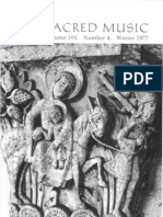 Sacred Music, 104.4, Winter 1977; The Journal of the Church Music Association of America