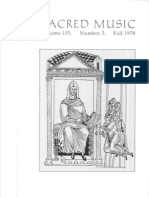 Sacred Music, 105.3, Fall 1978; The Journal of the Church Music Association of America
