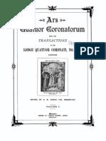 Ars Quatuor Corona to Rum Vol 01 1888
