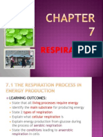 Respiration Chapter 7 Biology Form 4