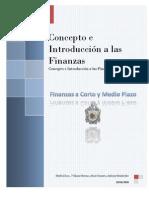 Consepto e Introducción a Las Finanzas
