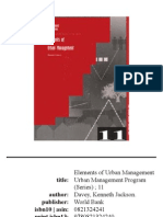 Elements of Urban Management