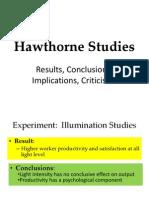 Hawthorne Studies (1)