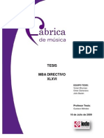 Fabrica de Musica - Proyecto de Tesis