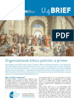 3344 Organisational Ethics Policies a Primer