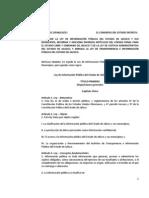 Ley  de Información Pública del Estado de Jalisco y sus Municipios