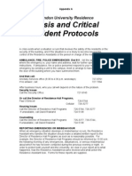 Critical Incident Protocol Appendix A
