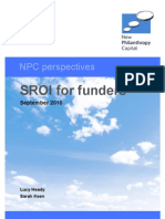 SROI for Funders