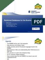 2011-03-16 Webinar Relational Databases for the Business Analyst - Slides