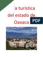 Guía turística del estado de Oaxaca
