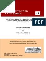 Draft Report - The Lokpal Bill (2011)