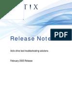 Actix Release Notes Feb 2005