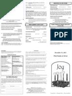 Bulletin - 20111211 3rd Advent