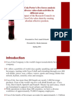 Coca-Cola Porter's Five Forces Analysis and Diverse Value-chain Activities in Different Areas