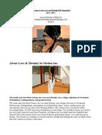 Love and Divinity EDU Newsletter 1-1 PDF