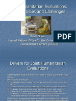 Joint Humanitarian Evaluations:Opportunities and Challenges