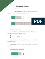 Concepto de fracción-teoria y calculo