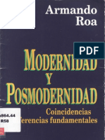 Roa, Armando – Modernidad y postmodernidad. Editorial Andrés