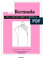 Cruise Ship Schedule 2012