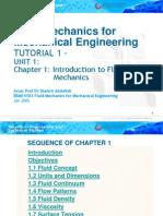 EBMF4103 (Chapter 1) Fluid Mechanics for Mechanical Engineering