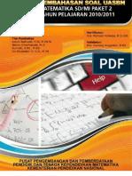 PEMBAHASAN MATEMATIKA UN SD 2011 PAKET 2
