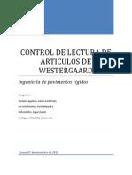 Control de Lectura de Articulos de Westergaard