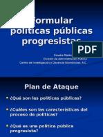 Políticas progresistas FES 2011