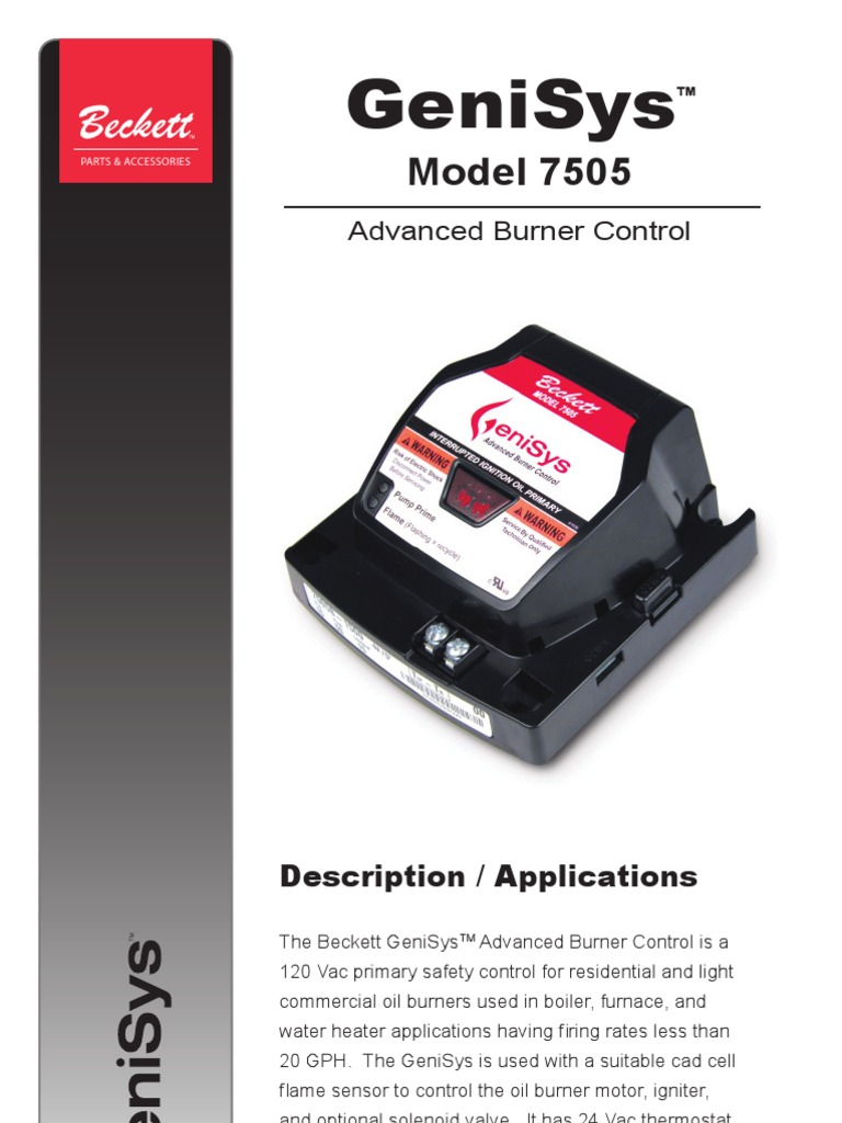 Beckett Genisys7505 Manual