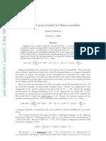 Jennifer Schultens- Heegaard genus formula for Haken manifolds