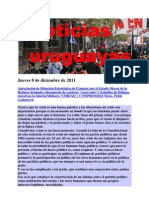 Noticias Uruguayas Jueves 8 de Diciembre de 2011