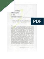 Concerning Philosophy in the United States - Reiner Schürmann