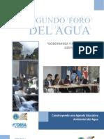 Relatoria Segundo Foro Del Agua 2011