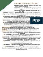 15 CONSEJOS DE ORO PARA LOS A CÓLITOS